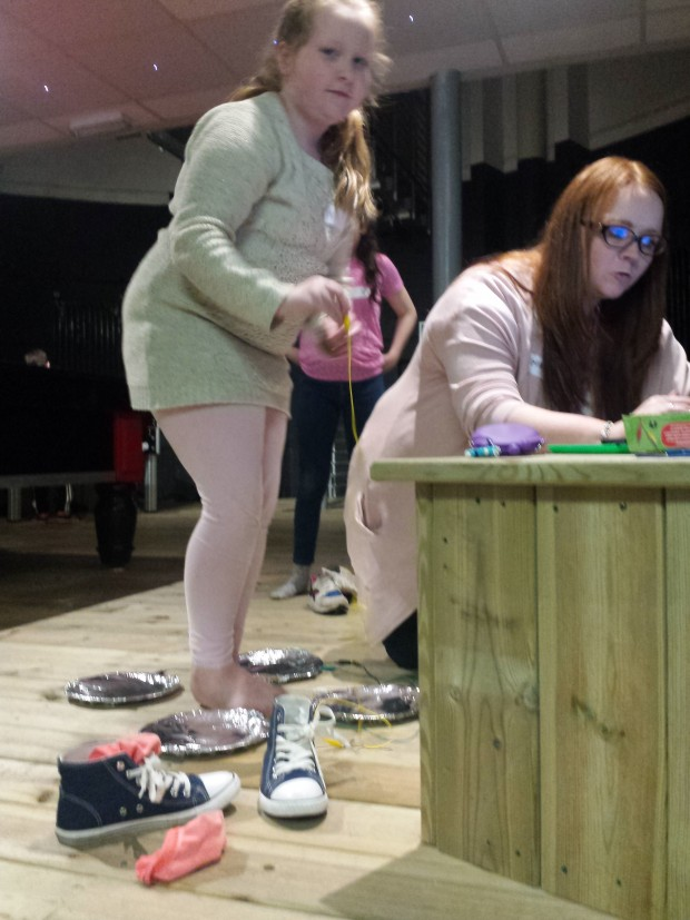 Barefoot Tetris - getting creative with a maKey maKey